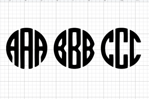 free circle monogram font to make circle monograms on your cricut