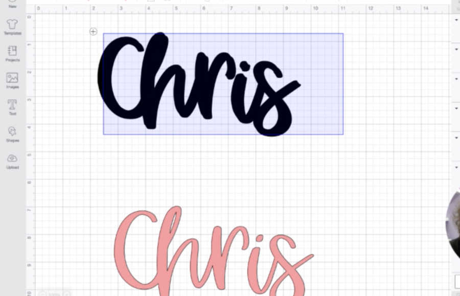 layering text in Cricut Design Space to create an offset shadow