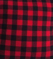 Red buffalo plaid pillow cover craft blank