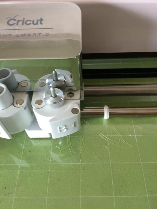 cutting a reusable stencil on a Cricut cutting machine