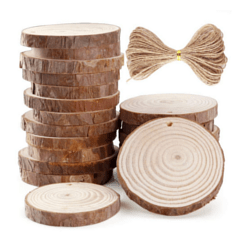 Blank Wood Slice Ornaments for Crafts
