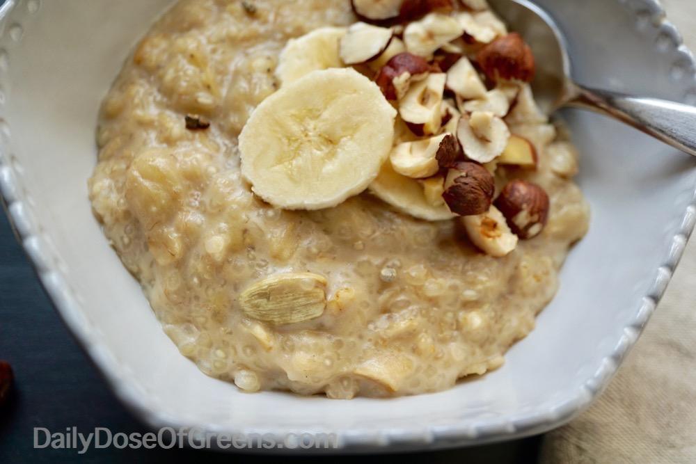 Cardamom Stewed Banana Porridge