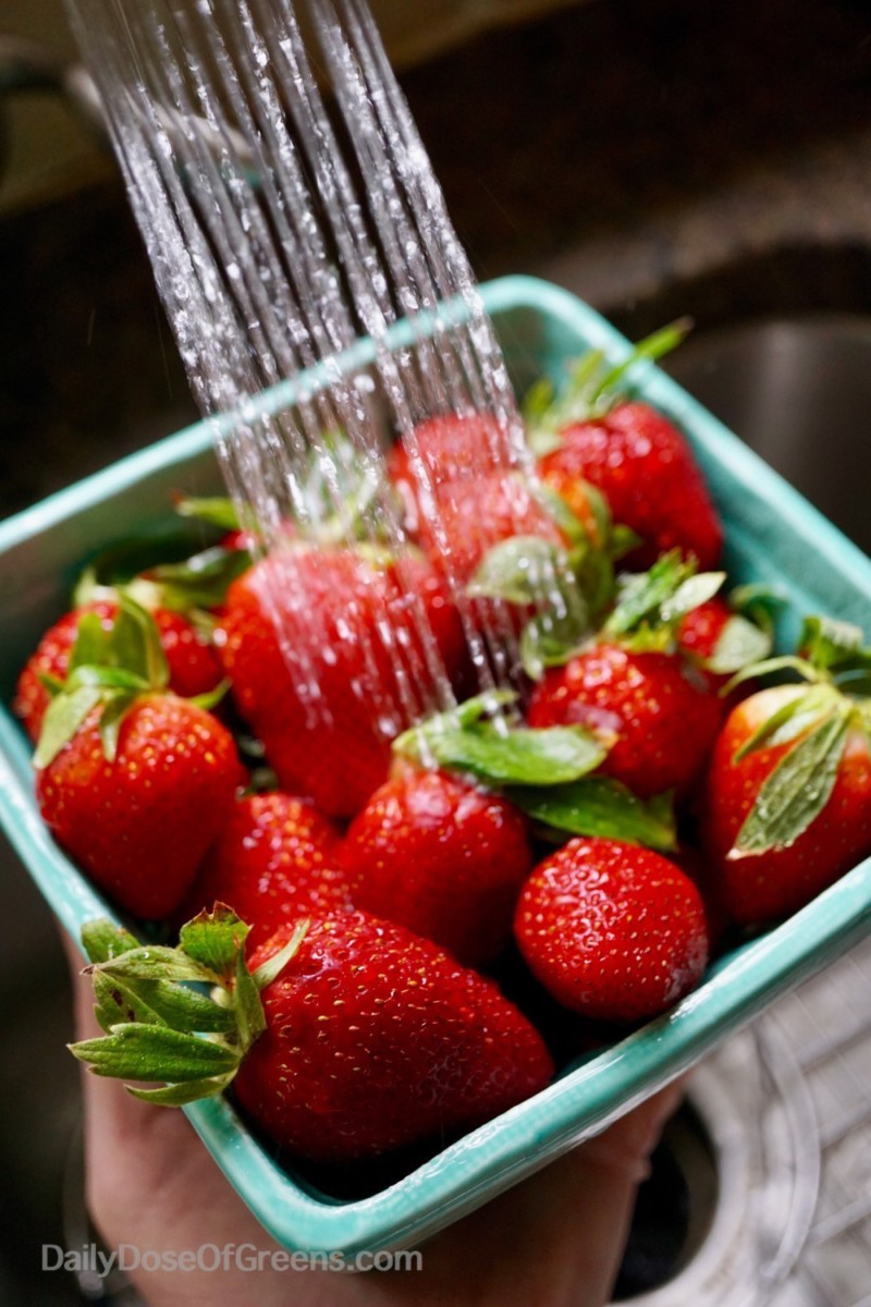 strawberries washed