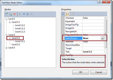 How to remove Hyperlink from ASP.NET TreeView Control Nodes ?