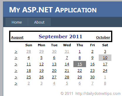 How to change selected date background color of current week