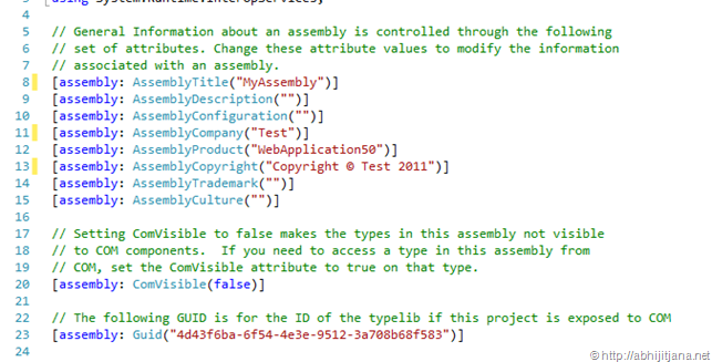 Specifying Assembly Information in Visual Studio - Daily