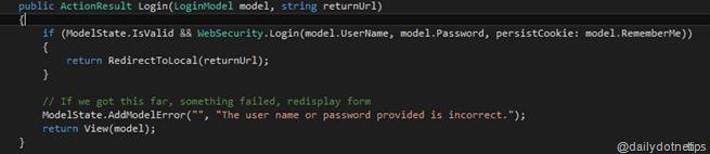 Selecting Code Block
