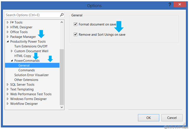 Automatically Remove and Sort Usings on Save in Visual Studio 2013