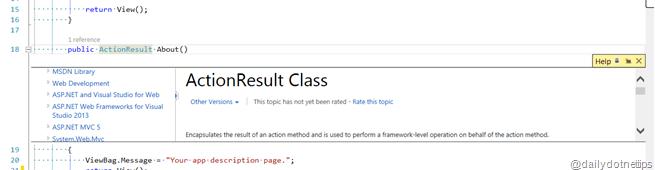 Visual Studio 2013 Tips and Tricks - Peek Help