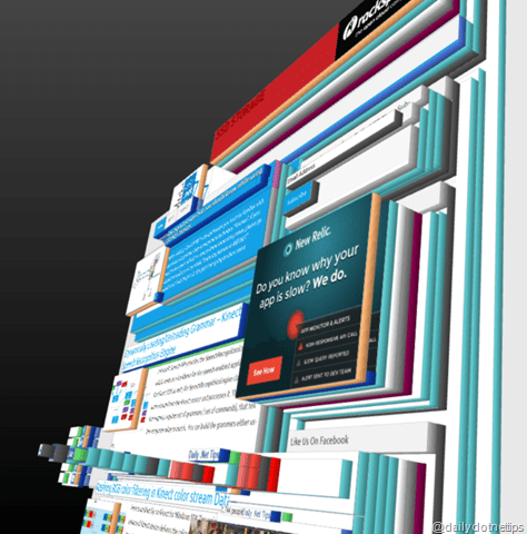 Turning Your Websites into 3D View
