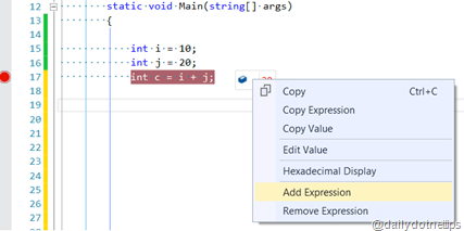 DataTip Add Expression