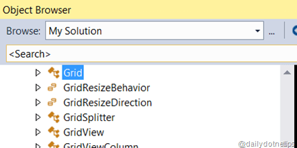 Go To Definition in XAML - Object Browser