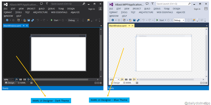 XAML UI Designer  Depends on Theme