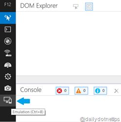 Emulation Mode in IE 11