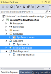 Localize Your Windows Phone 8 Application : Simplified