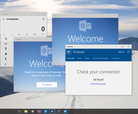 Adaptive screen Sizing of your Windows 10 Universal Application