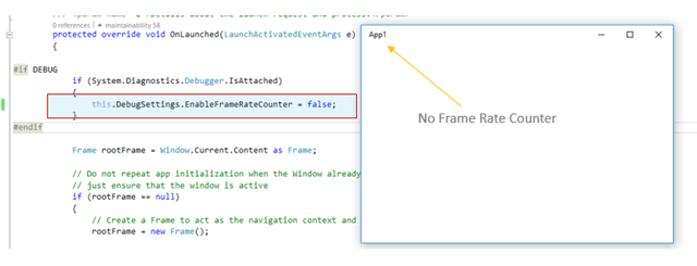 How to turn off the frame rate counters for Windows Universal App\'s ...