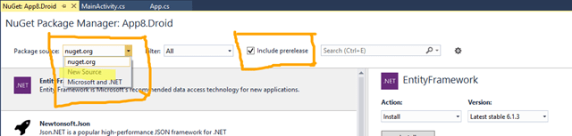 How to Install a local sources NuGet package or a Prerelease package in Visual Studio 2015 ?