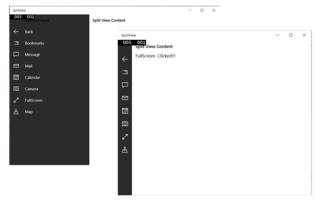 Understanding SplitView and its features in Universal Windows App.