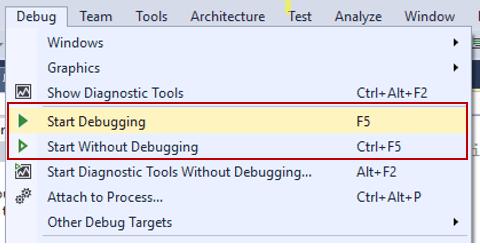 StartDebugging