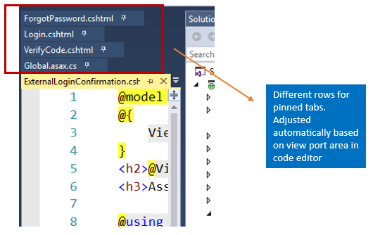 Did you know – Pinned tabs never hide in visual Studio ?