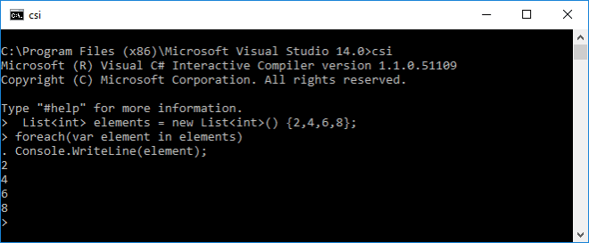 Command Line C# Interactive Script Execution for Visual Studio