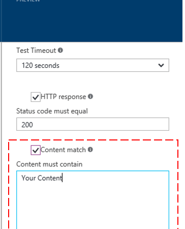 Sending availability alert based on response content in Application Insights