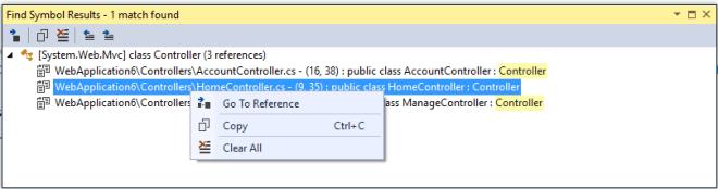 Find Results Vs. Find Symbol Results Window in Visual Studio