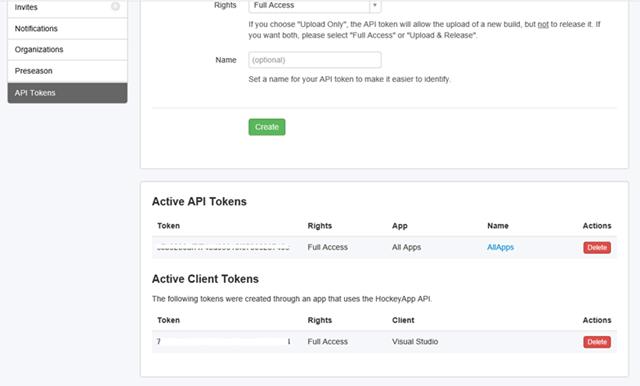 Access Tocken From HockeyApp Portal