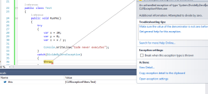 How exception filters can help you investigate runtime errors in C#
