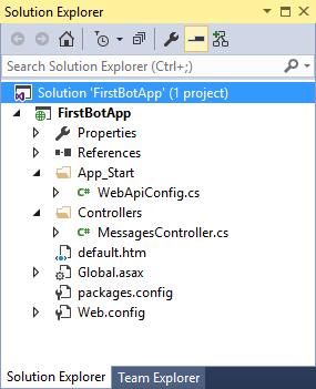 Bot Application - Solution Explorer