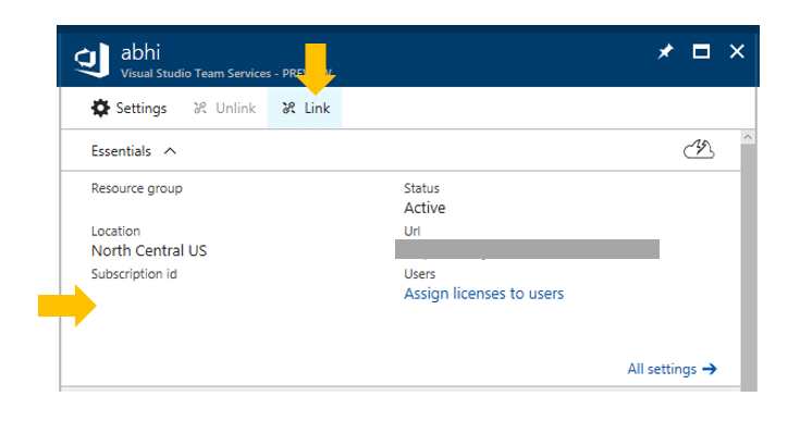 Linking Team Services (VSTS) accounts  with  your Azure account for Continuous Integration