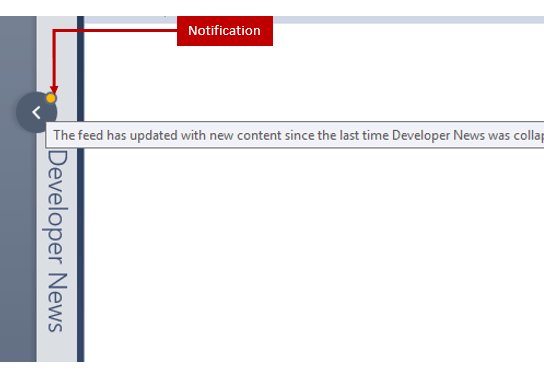 """Did you know –  """"Developer News"""" section in Start Page, when collapsed, shows you a notification in case there are feed updates – Visual Studio 2017?"""