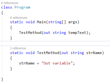 Declare Out variable right at the point – Out variable in C# 7.0