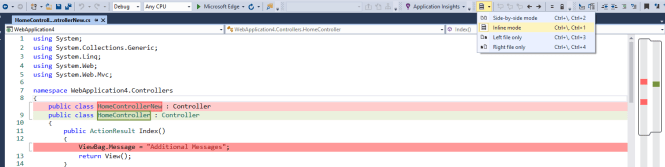 Compare files in Visual Studio IDE using DiffFiles Tool - Daily