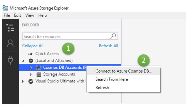 Connect to Azure Cosmos DB