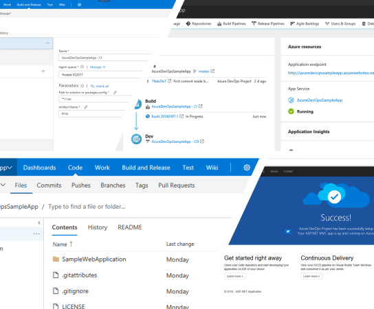 Quickly setup everything you need for develop, deploy and monitor your solution on Azure – Using Azure DevOps Project