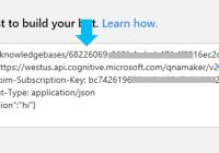 Getting the API Key for QnA Maker