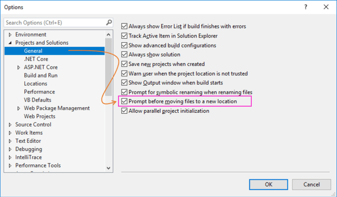 Prompt before moving files to a new location : Option to Enable Prompt before Moving Files