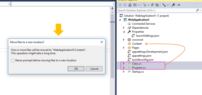 Prompt Before Moving Files in Solution Explorer