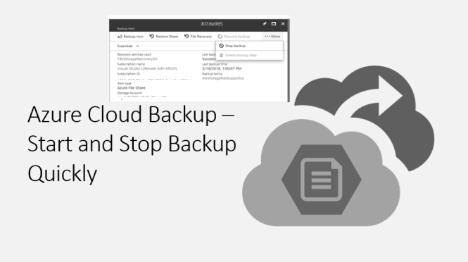 Azure Cloud Back - Start and Stop Quickly