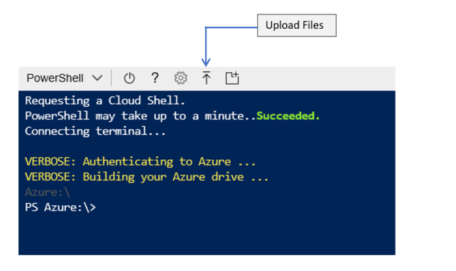 Azure Cloud Shell File Upload