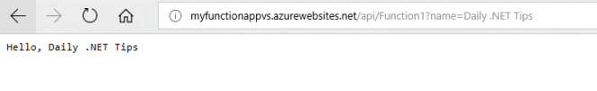 Azure Function Runing from Cloud