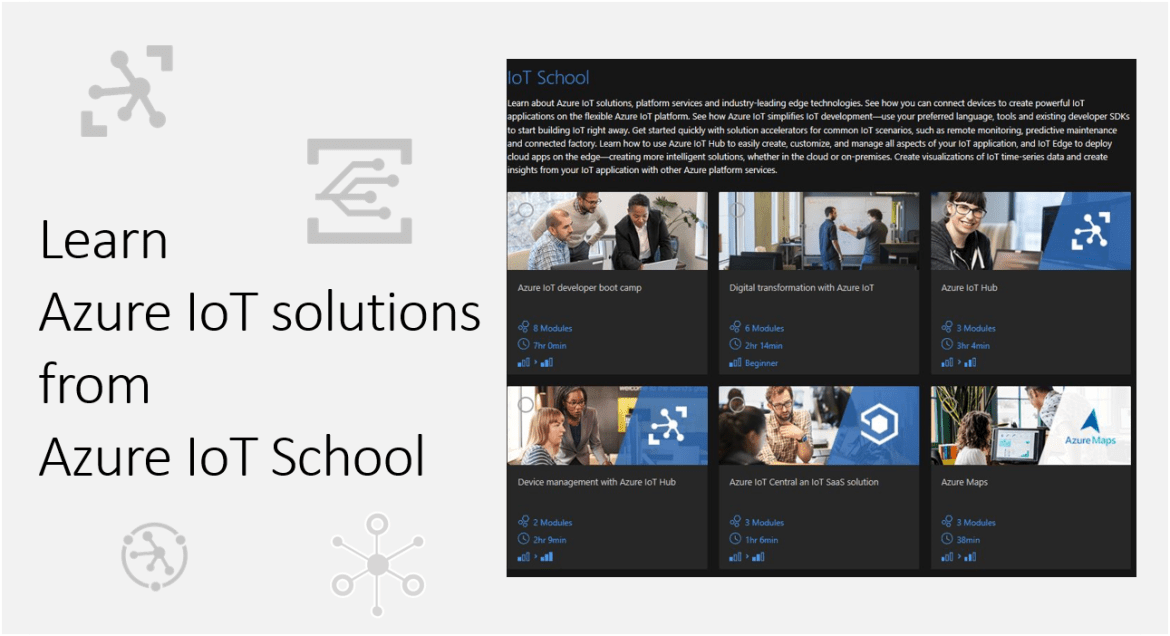 Learn Azure IoT solutions from Azure IoT School