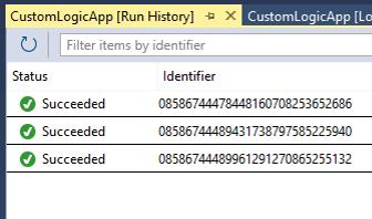 Managing Azure Logic Apps - Run History