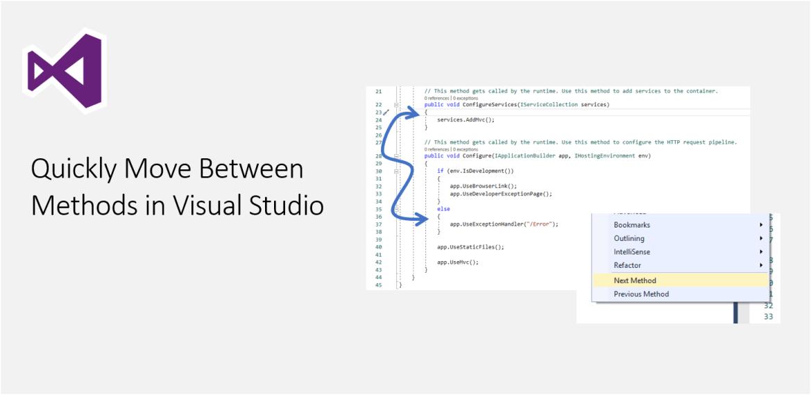 Quickly Move Between Methods in Visual Studio