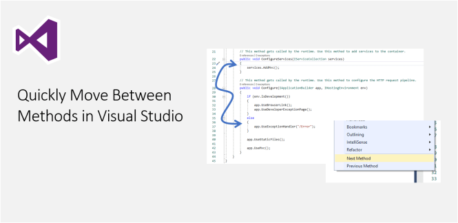 Quickly Move Between Methods in Visual Studio - Featured