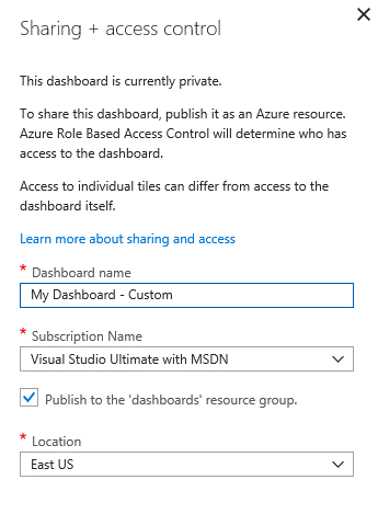 Share Azure Portal Dashboard - Access Control