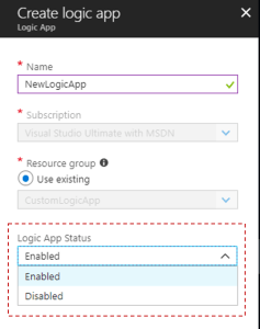 Cloning Azure Logic App to create a new one - Logic App Status