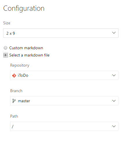 How to add custom HTML to VSTS dashboard - Select Markdown